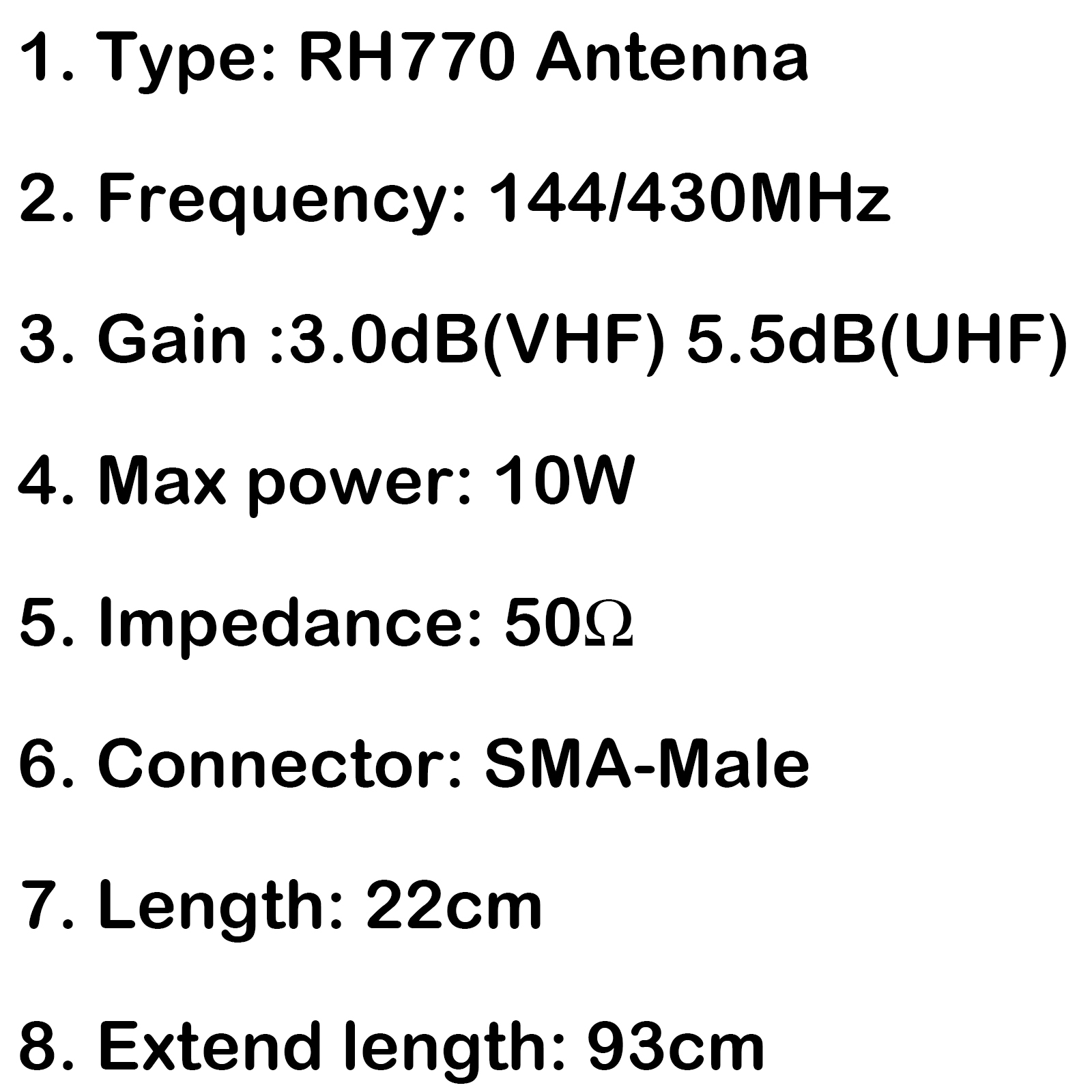 1x Rh770 Sma Male Telescopic Dual Band Antenna Fr Px 359