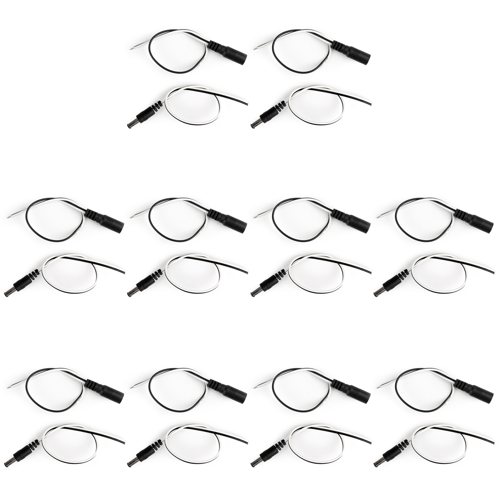 10pair Dc 5 5x2 1mm Male Female 22awg Pigtail Surveillance