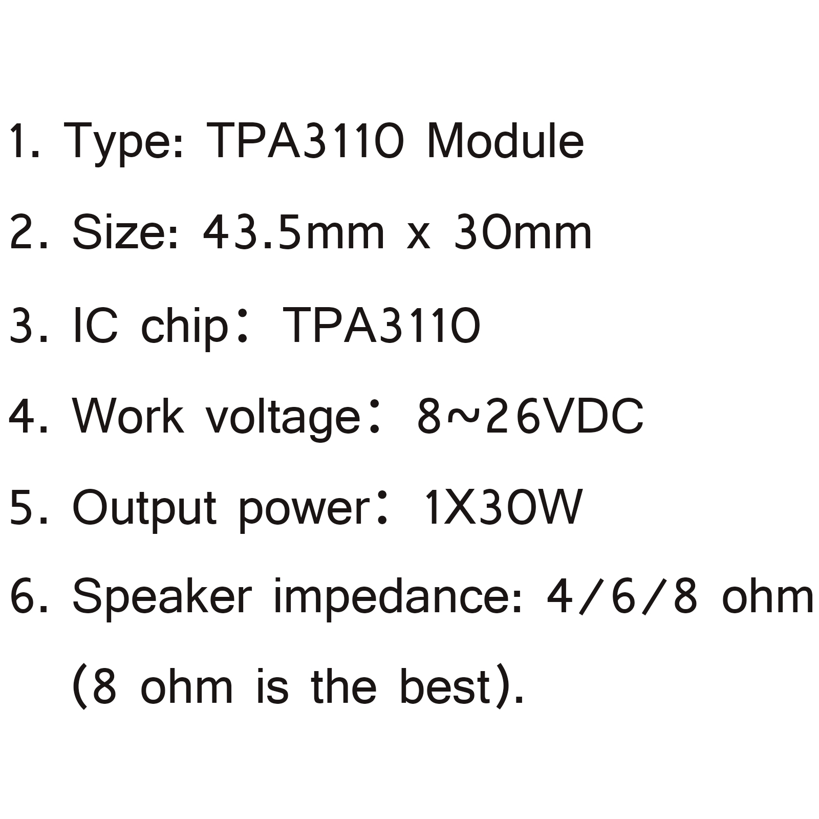 1pcs Tpa Dc 8 26v Pbtl 30w Digital Mono Amplifier