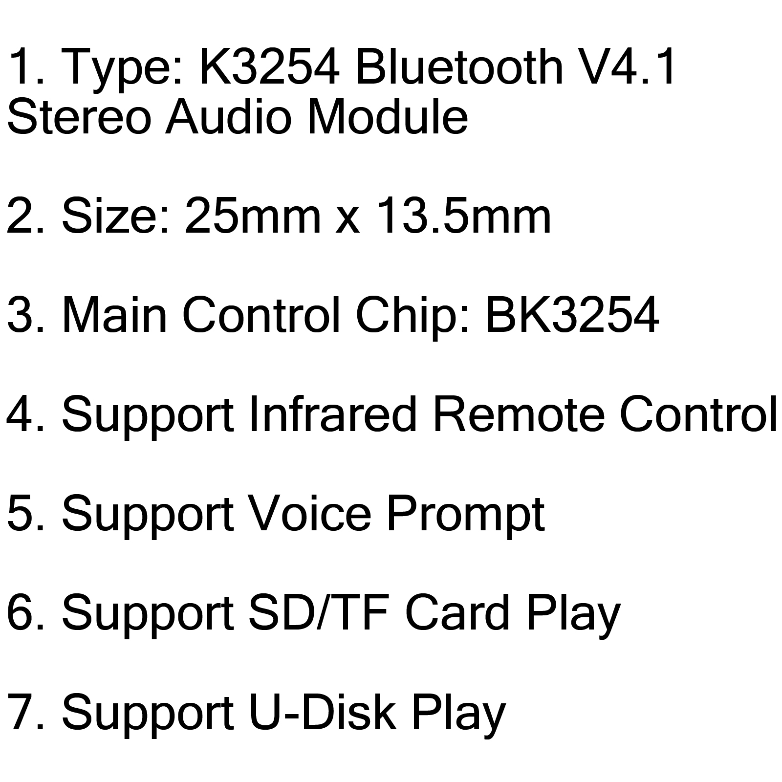 Bk Bluetooth V4 1 Stereo Audio Modul Support Infrared