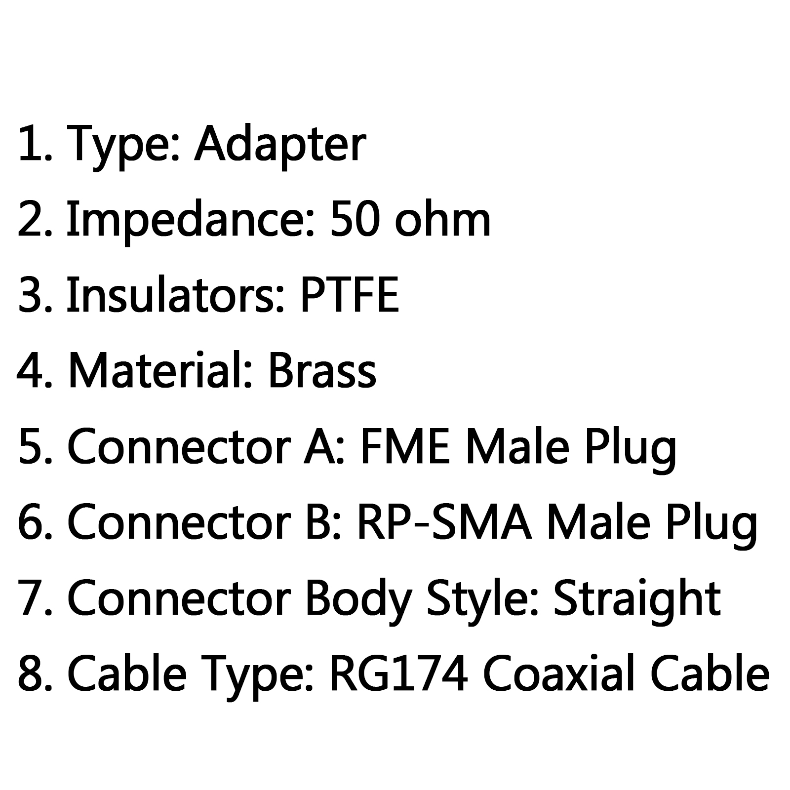 4pcs Rg174 Cable Fme Male To Rp Sma Male Plug Rf Pigtail