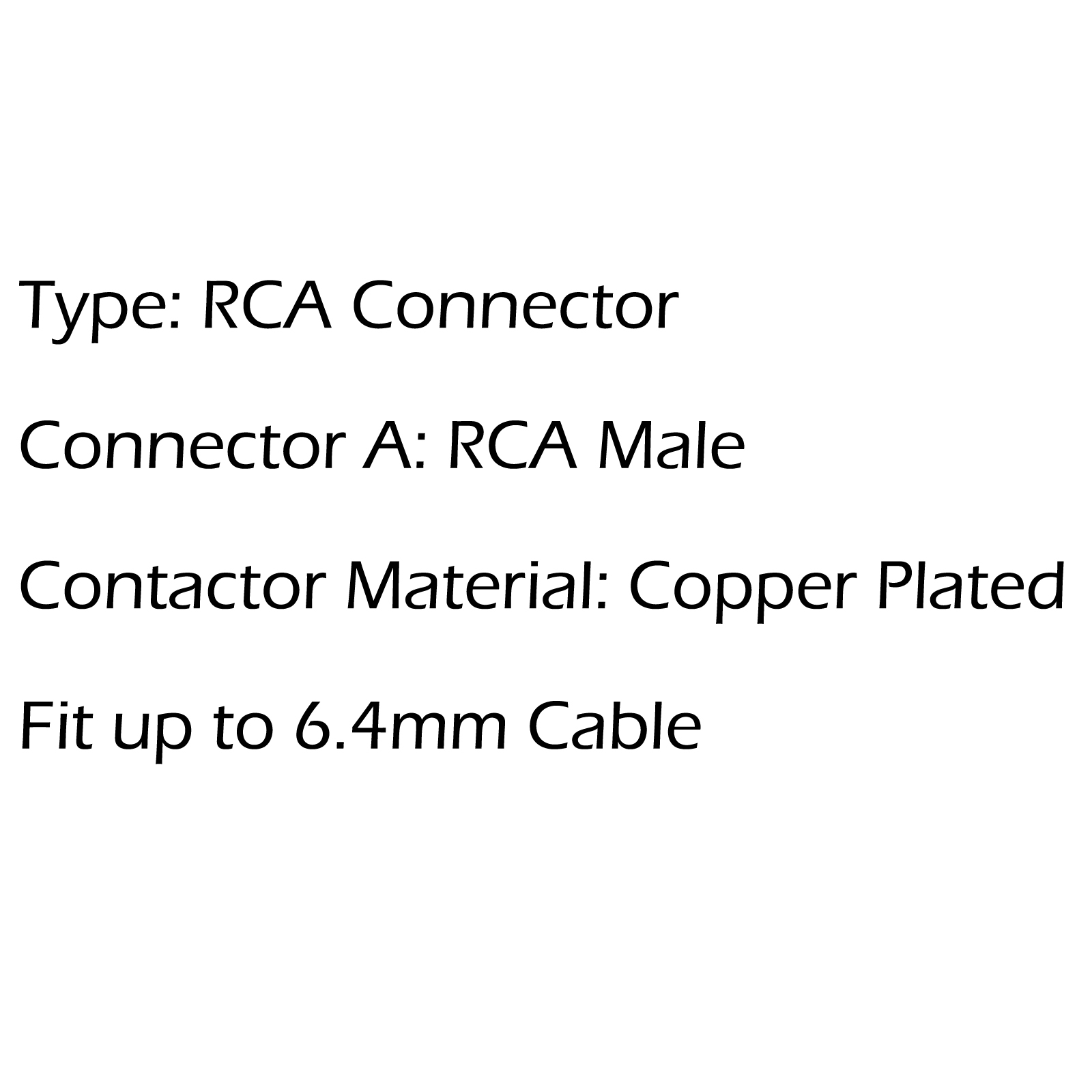 1 Set Rca Male Plug Copper Audio Video Gold Adapter Fit 6