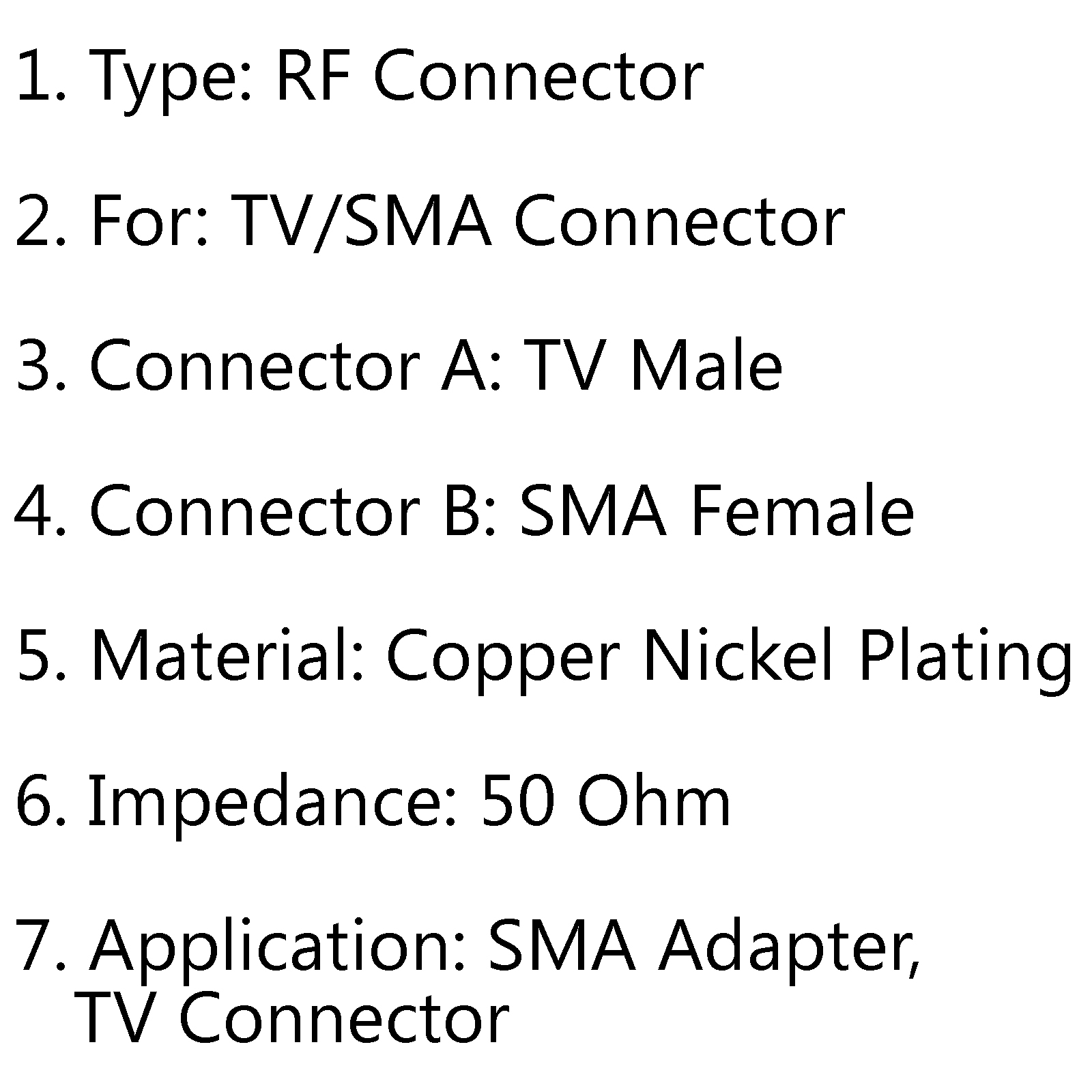 Sma Female Jack To Tv Iec Male Plug 50 Connector Rf