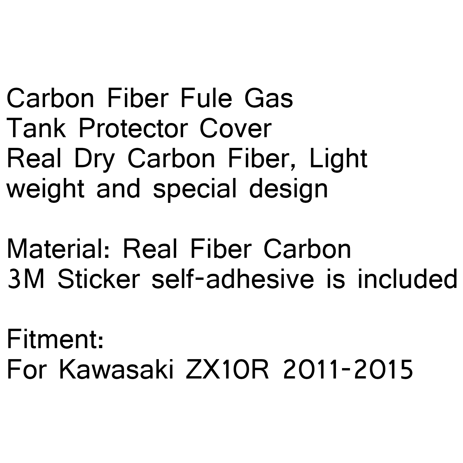 Real Dry Carbon Fiber Gas Tank Protector Cover 3m For
