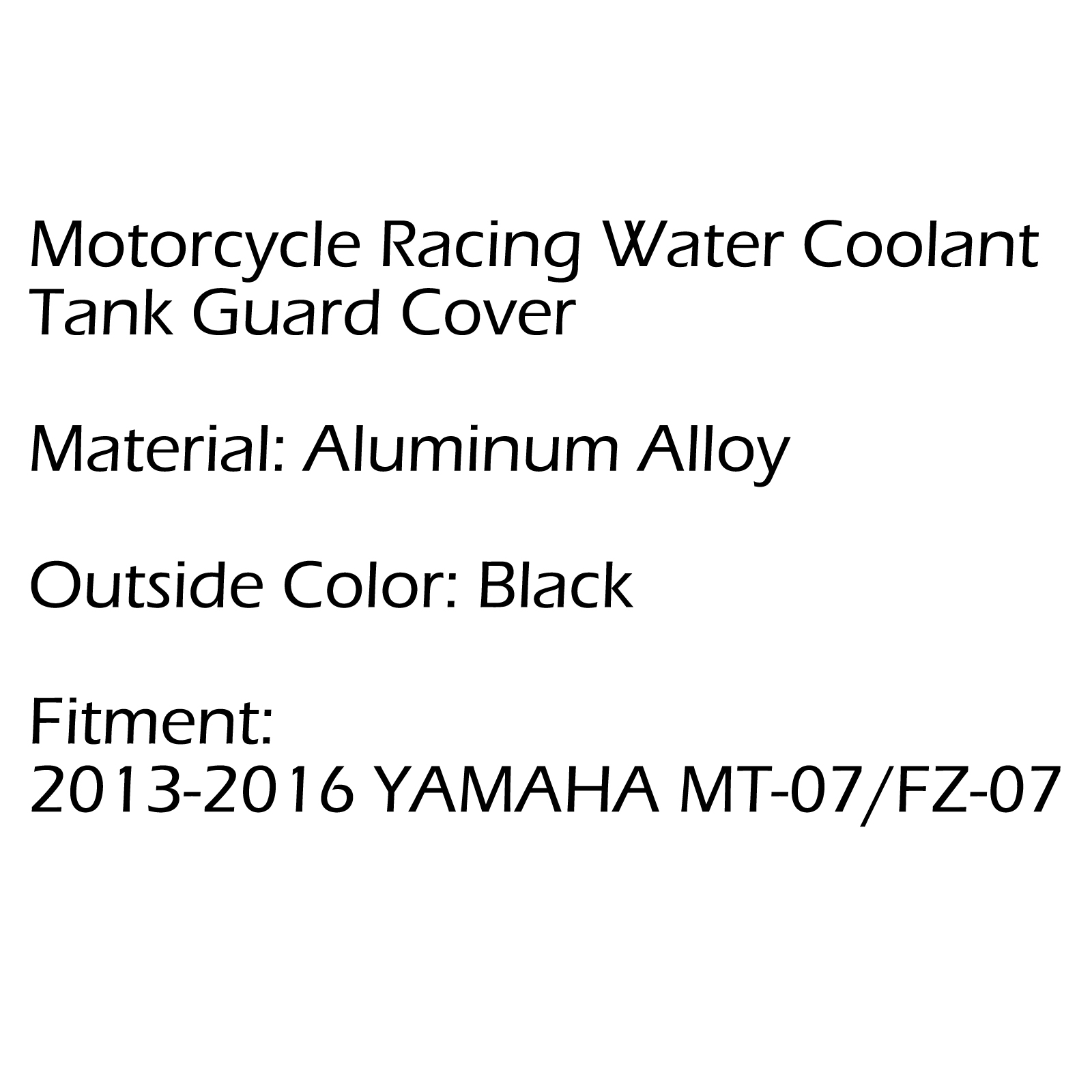 Radiator Water Coolant Resevoir Tank Guard Cover For