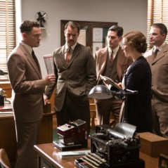 "(Left) LEONARDO DiCAPRIO as J. Edgar Hoover and NAOMI WATTS (fourth from left) as Helen Gandy in Warner Bros. Pictures' drama ""€œJ. EDGAR,""€ a Warner Bros. Pictures release."