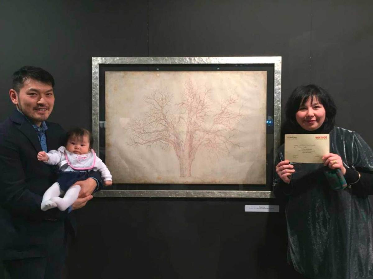 """Aretini sugli scudi, Tetsuji Endo vince la """"Vernice Art Fair"""" di Forlì"""