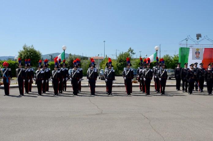 La cerimonia dei festeggiamenti del 205esimo Anniversario dell'Arma dei Carabinieri