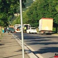 Scontro auto-moto in via Salmi: due feriti