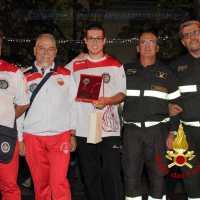 Bianchi dei Vigili del Fuoco di Arezzo, Ravanelli e Pippi tre Big premiati a Cortona