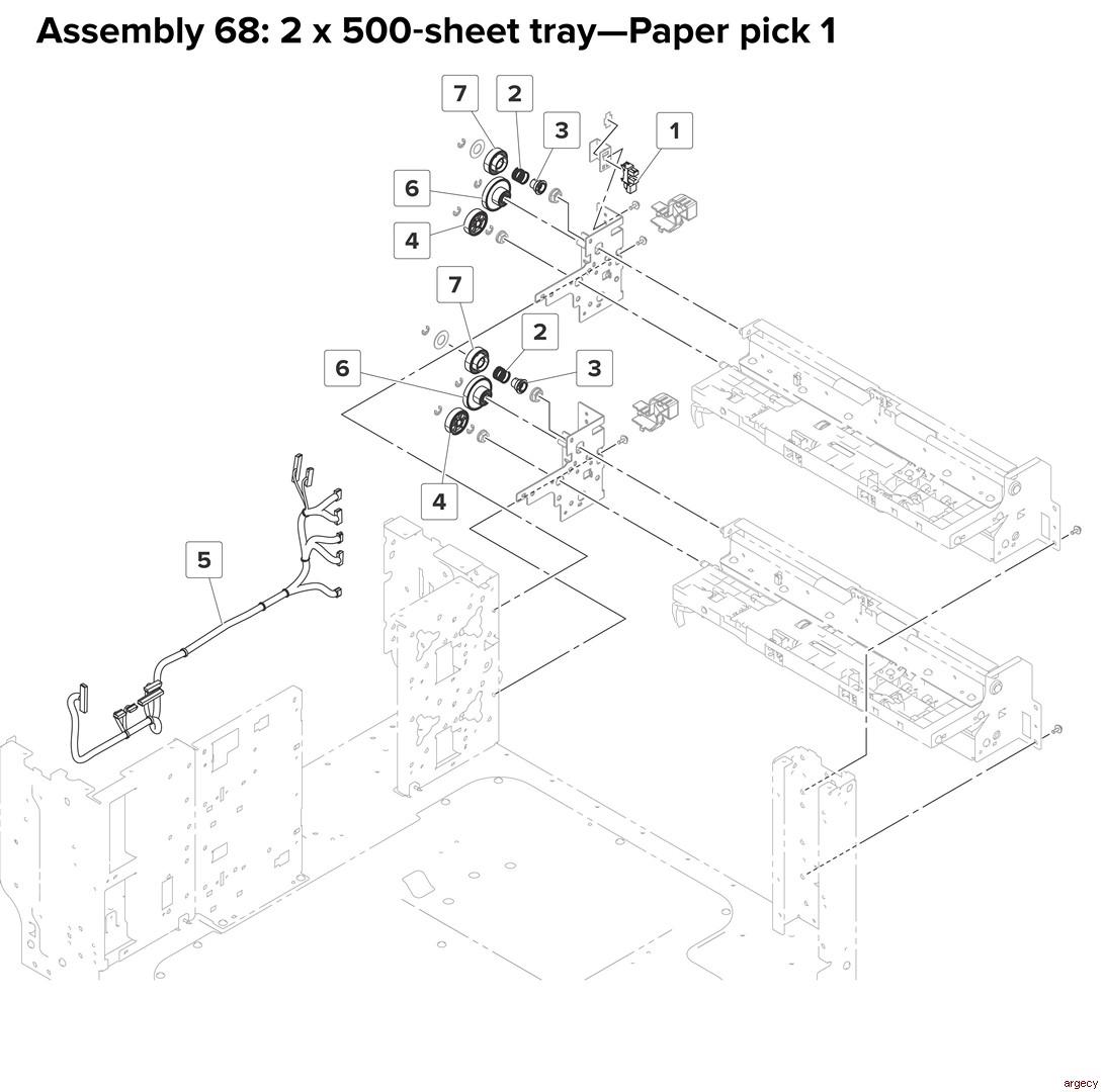 Lexmark Cx920 Cx921 Xc Xc Cx927 Parts