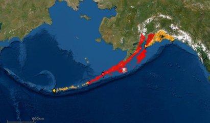 Alaska Mapa de Zona Terremoto
