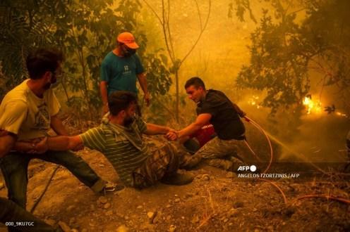 Imágenes de los incendios en Eubea Grecia (agosto 2021) 15