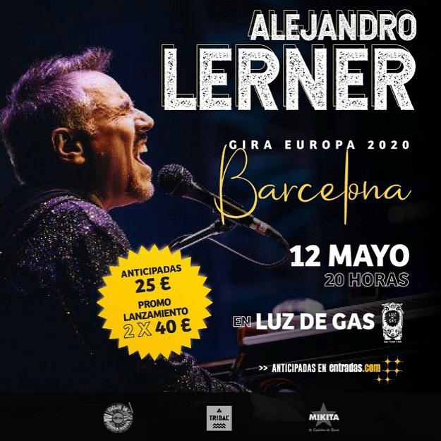 Alejandro Lerner Barcelona 2020 - juntos para siempre