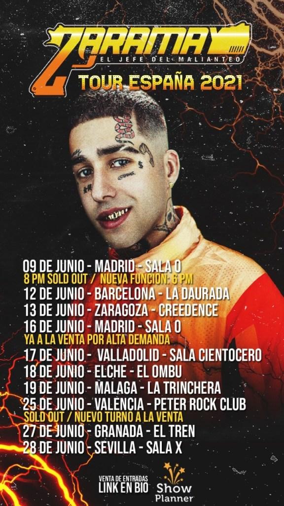 Zaramay TOUR ESPAÑA 2021
