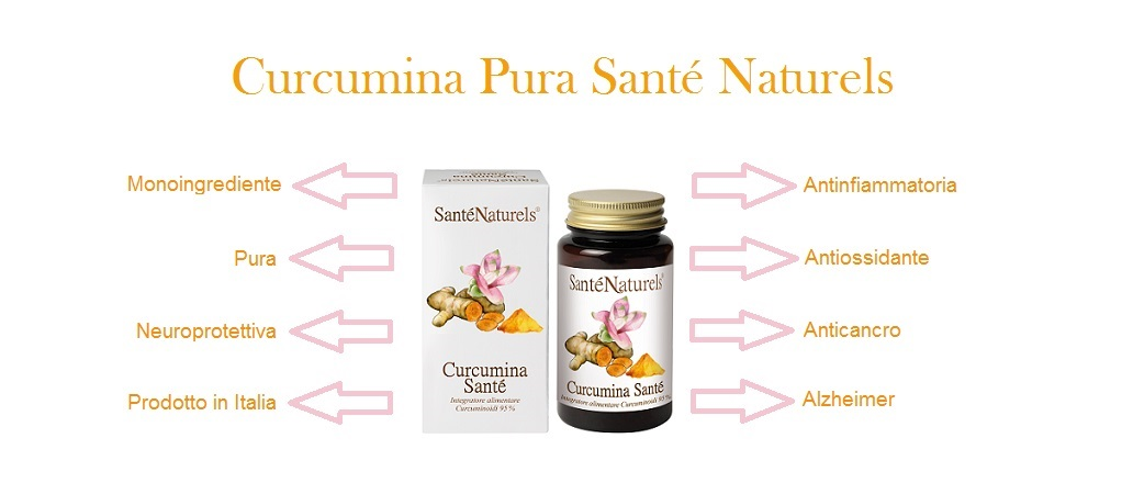 La curcumina ha importanti proprietà antinfiammatorie e antiossidanti, contrasta l'azione dei radicali liberi.