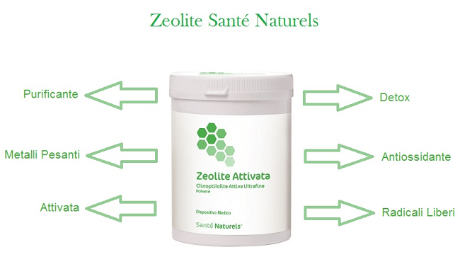 La Zeolite ha proprietà purificanti, elimina le sostanze dannose dal nostro organismo senza controindicazioni. Antiossidante naturale