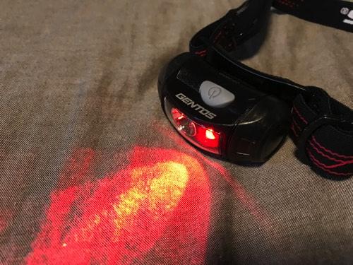 ジェントス ヘッドライト 赤色LED