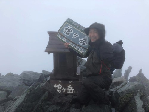 槍ヶ岳 山頂アタック