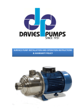 thumbnail of Davies Owners Manual for Surface Pumps