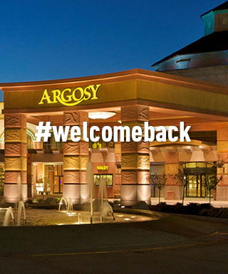 #welcomeback with Argosy Riverside in the background