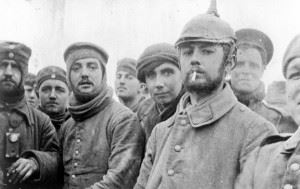British and German soldiers fraternising at Ploegsteert, Belgium, on Christmas Day 1914