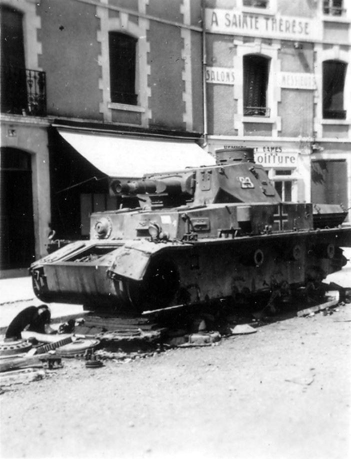 Another Panzerkampfwagen IV wreck in Normandy, 1944.