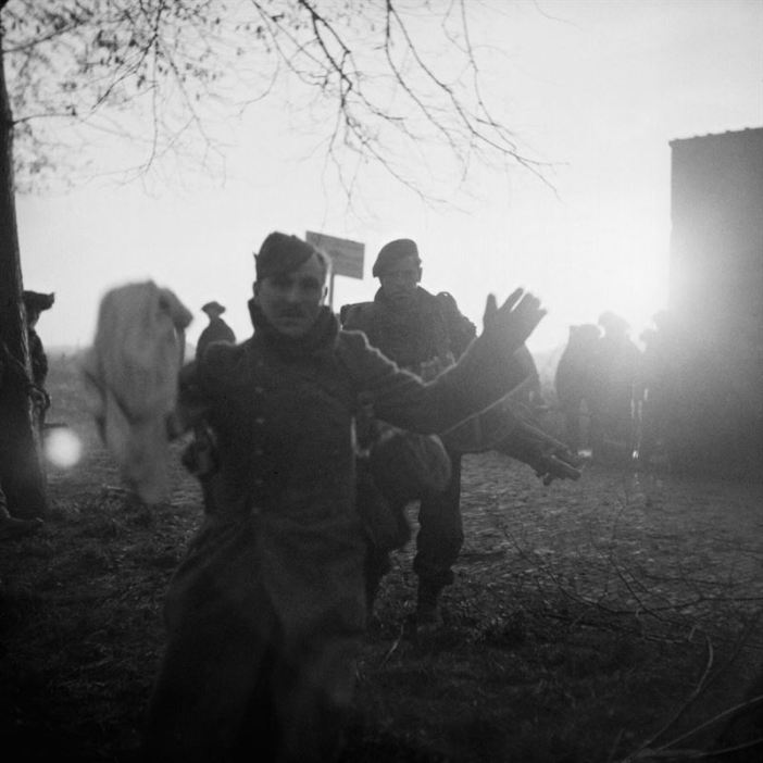 A German POW captured during the Allied assault on Walcheren Island in Holland, November 1944.