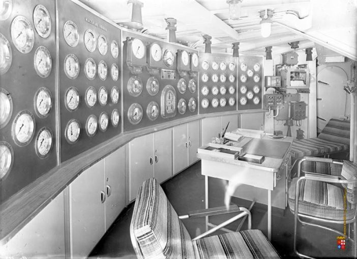 Seldom images of Battleship Roma's interior.
