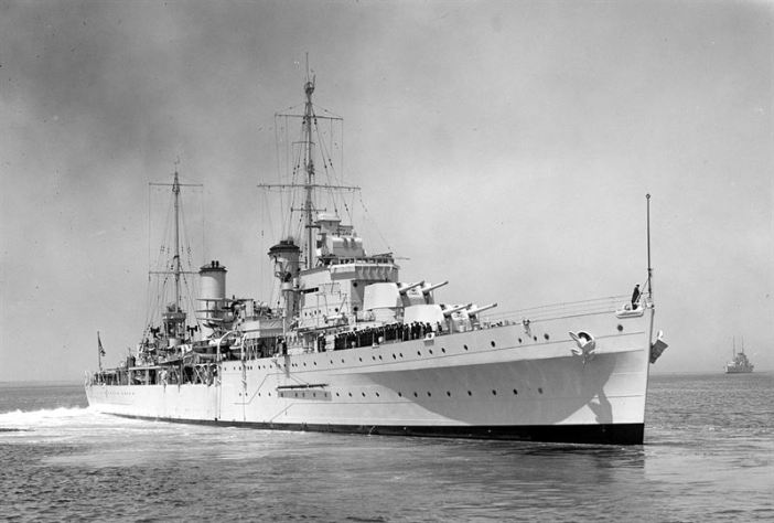 HMAS Syndey (II) in 1935. (Credits: Wikipedia)