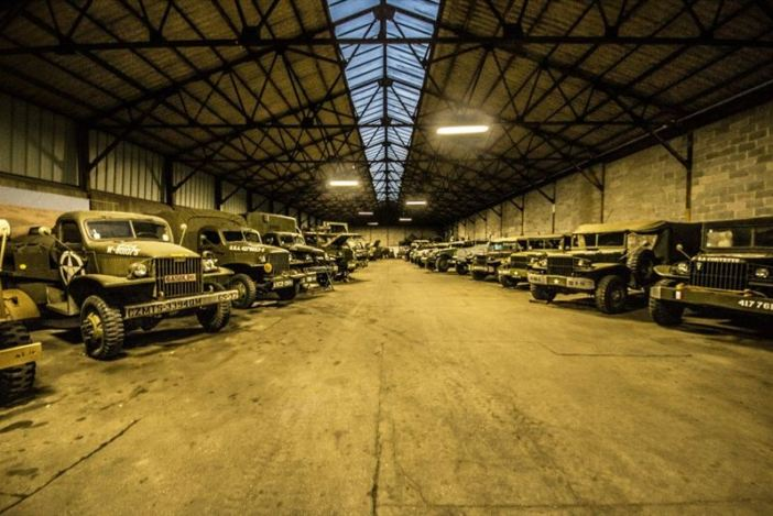 Hangar full of WW2 Vehicles, Tanks and Classic Cars (442 Explorations / Argunners Magazine)