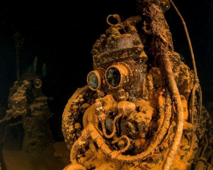 Compressor of the Fujikawa Maru. (Credits: Brandi Mueller)