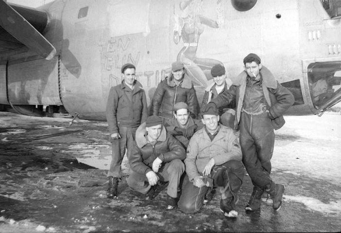 "B-24J Liberator ""Ten Gun Dottie"", 753rd Bombardment Squadron, 458th Bombardment Group of the Eight Air Force."