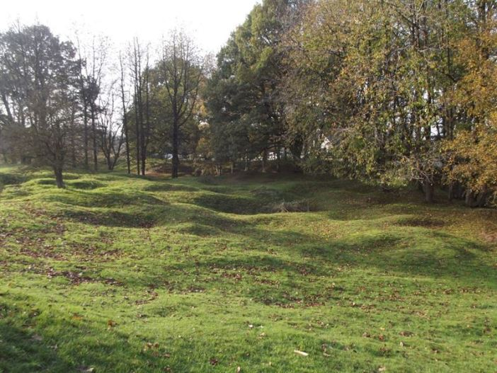 The cratered landscape at Hill 60 today