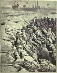 An artist's impression of the fighting at Hill 60 (Credits: The War Illustrated)