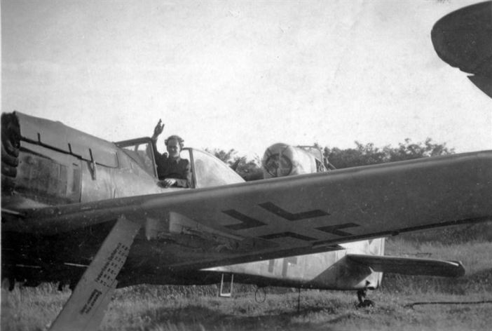 """""""Focke Wulf 190. The type that attacked us on New Year's Day. Lubeck '45"""""""