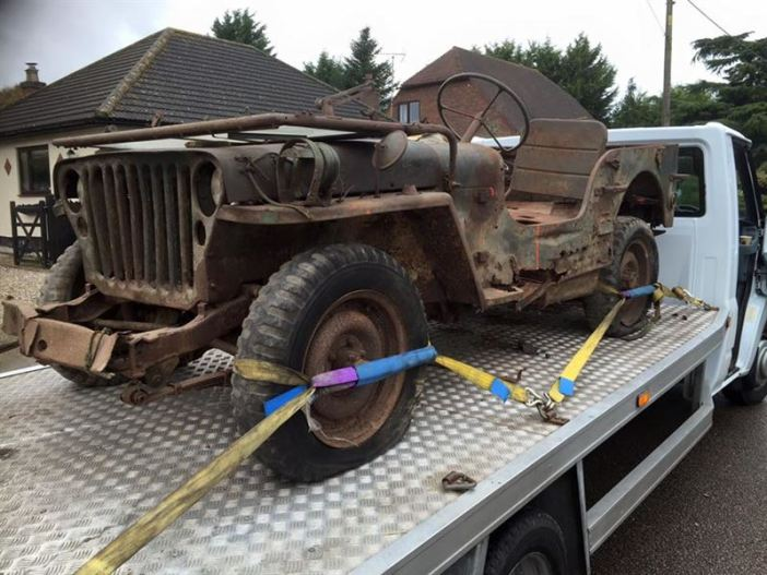 Willys MB brought back from Normandy