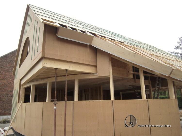 ossature bois maison passive conçue par Véronique staffe