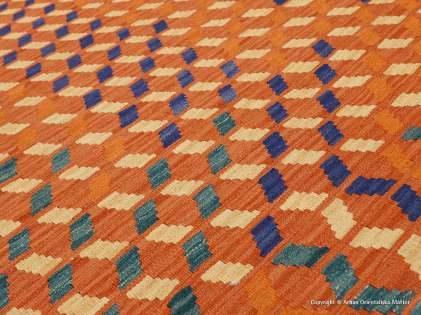 Kashgai kelim matta, storlek ca 151 x 192 cm. Refnr 35090