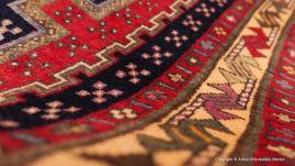 Afshar, persisk nomadmatta från södra Iran. Storlek 105 x 227 cm