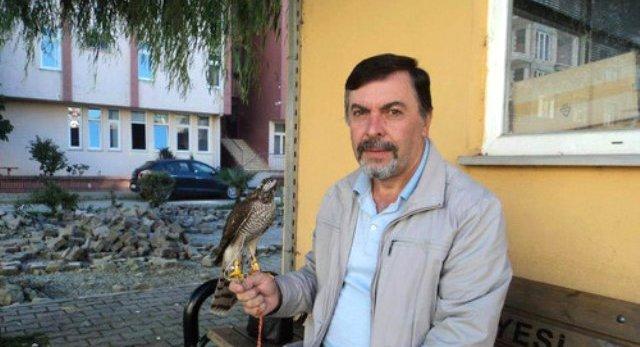 Arhavi'de Beyaz Atmaca Yakaladı
