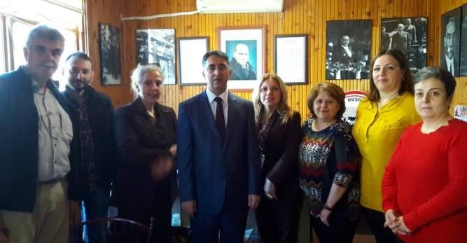 Kaymakam Şeref Aydın, ADD Arhavi Şubesini Ziyaret Etti