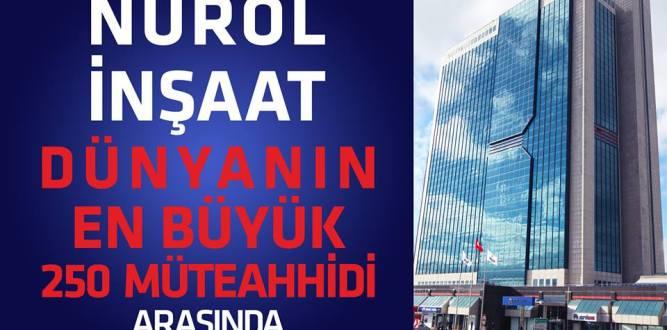 Nurol İnşaat Dünyanın En Büyük 250 Müteahhidi Arasında