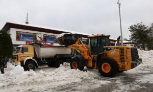 İlçemizde Kar Temizleme Çalışmaları Devam Ediyor