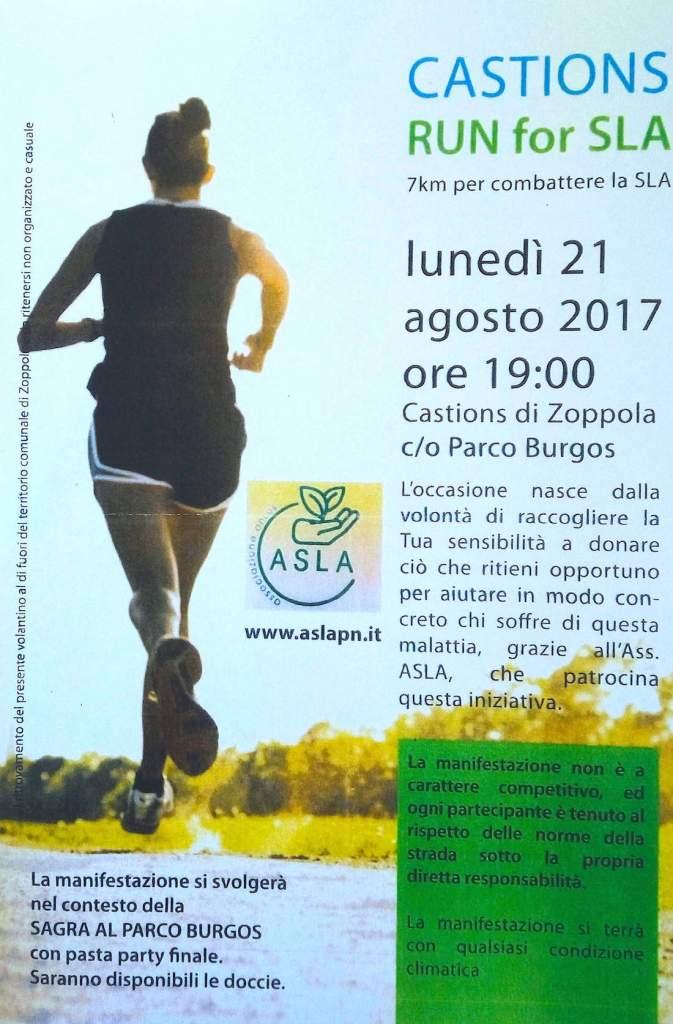 run for SLA castions di zoppola