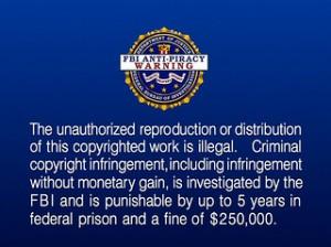 FBI Piracy Warning