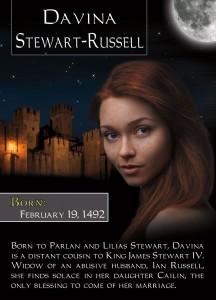 Romance Trading Card for Davina Stewart-Russell