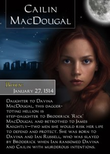 Bonded By Blood Characters - Cailin MacDougal