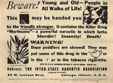Cannabis, la drogue qui tue, 1935, USA.