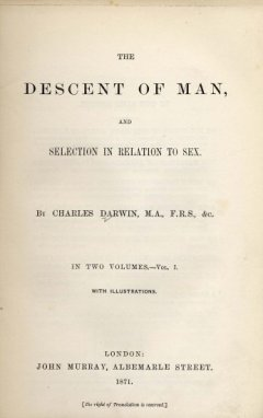 Darwin: Descent of Man (1871)